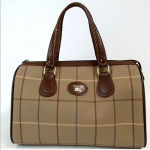 authentic BURBERRYS Check pattern Handbag